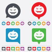 Halloween pumpkin sign icon. Halloween party. — Wektor stockowy