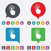 Hand cursor sign icon. Hand pointer symbol. — Stok Vektör