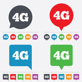4G sign. Mobile telecommunications technology. — Vector de stock