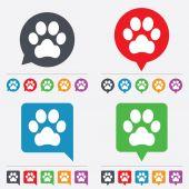 Hund pfote zeichen symbol. haustiere-symbol. — Stockvektor