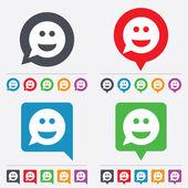 Smile face sign icon. Smiley symbol. — Stock Vector
