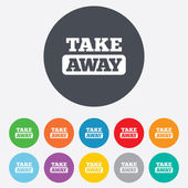Take away sign icon. Takeaway food or drink. — Stock Vector