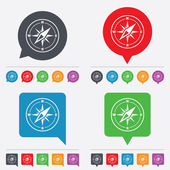 Compass sign icon. Windrose navigation symbol. — Stock Vector