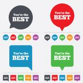 You are the best icon. Customer award symbol. — Stock Vector