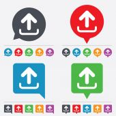 Upload sign icon. Upload button. — Stockvector