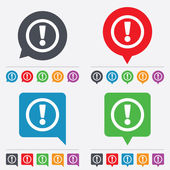 Attention sign icon. Exclamation mark. — Wektor stockowy