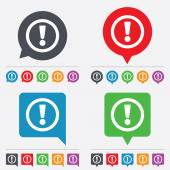 Attention sign icon. Exclamation mark. — 图库矢量图片