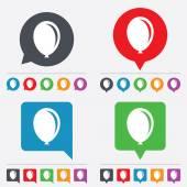 Balloon sign icon. Birthday air balloon. — Stock Vector