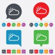 Cloud and sun sign icon. Weather symbol. — Stock Vector #57989593