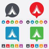 Tourist-Zelt-Schild-Symbol. Camping symbol. — Stockvektor