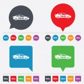 Taxi car sign icon. Sedan saloon symbol. — Stock Vector