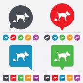 Feces sign icon. Clean up after pets symbol. — Stock Vector