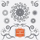 Vintage geometric ornaments. Decorative design. — Stockvektor