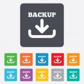 Backup date sign icon. Storage symbol. — Vecteur