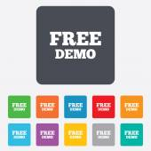 Free Demo sign icon. Demonstration symbol. — Stok Vektör