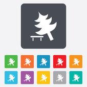 Tree sign icon. Break down tree symbol. — Stockvektor