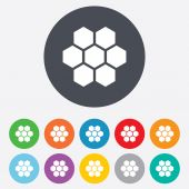 Honeycomb sign icon. Honey cells symbol. — Stockvektor