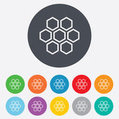 Honeycomb sign icon. Honey cells symbol. — Stockvektor