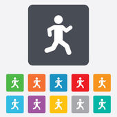 Running sign icon. Human sport symbol. — Stock Vector