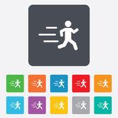 Running sign icon. Human sport symbol. — Stock Vector
