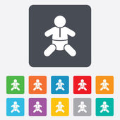 Baby infant sign icon. Toddler boy symbol. — Stockvector
