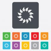 Wreath of leaves sign icon. Leaf circle symbol. — ストックベクタ