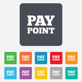 Cash and coin sign icon. Pay point symbol. — Stock Vector