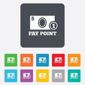 Cash and coin sign icon. Pay point symbol. — Stock vektor