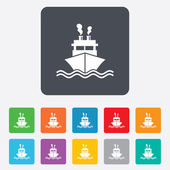 Ship or boat sign icon. Shipping delivery symbol — Stock vektor