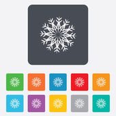 Snowflake artistic sign icon. Air conditioning. — Stock Vector