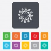 Snowflake artistic sign icon. Air conditioning. — Stockvector