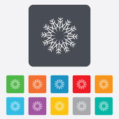 Snowflake artistic sign icon. Air conditioning. — Vecteur