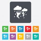 Storm bad weather sign icon. Gale hurricane. — Stock Vector