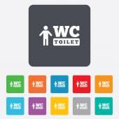 WC men toilet sign icon. Restroom symbol. — Vecteur