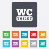 WC Toilet sign icon. Restroom symbol. — Vecteur