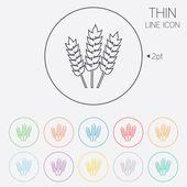 Agricultural sign icon. Gluten free or No gluten — Vector de stock