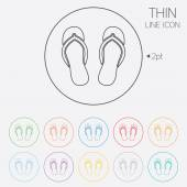 Flip-flops sign icon. Beach shoes. — Wektor stockowy