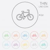 Bicycle sign icon. Eco delivery. — Stockvector