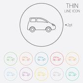 Car sign icon. Hatchback symbol. — Stock Vector