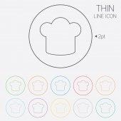 Icono de signo de sombrero chef. símbolo de la cocina. — Vector de stock