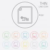 ícone de arquivo do arquivo. botão de 7z download. — Vetor de Stock