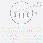 Vrienden ondertekenen pictogram. sociale media symbool. — Stockvector