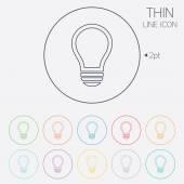 Leuchte zeichen symbol. idee-symbol. — Stockvektor