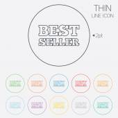 Best seller sign icon. Best seller award symbol — Stock Vector
