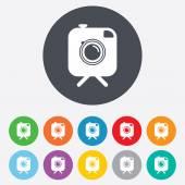 Hipster photo cameras signs icons — Stok Vektör