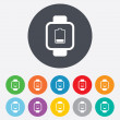 Smart watch sign icon. Wrist digital watch. — Wektor stockowy  #59950911