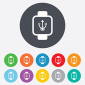 Smart watch signs icons. — Stok Vektör