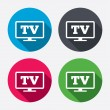 ������, ������: Widescreen TV sign icons
