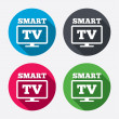 ������, ������: Widescreen Smart TV signs icons