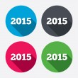 Happy new year 2015 icons — Stockvektor  #60072649